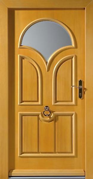 стальная квартирная дверь со стеклом